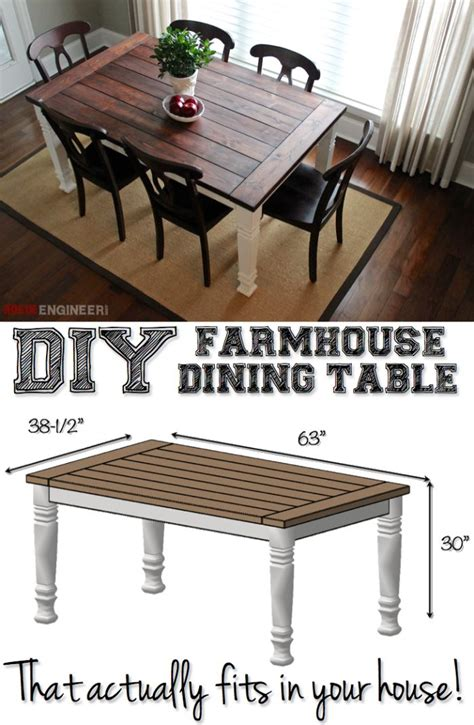Diy Kitchen Table Plans Diy Farmhouse Dining Table Free Plans Do It Yourself