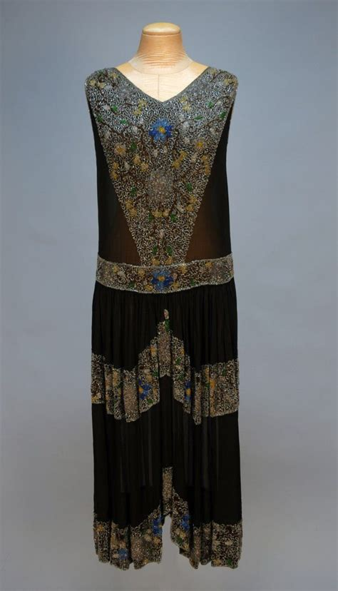 Beaded Style Dress Yellowblack 27870 212 best images about early 1920s evening and formal wear on auction jeanne lanvin