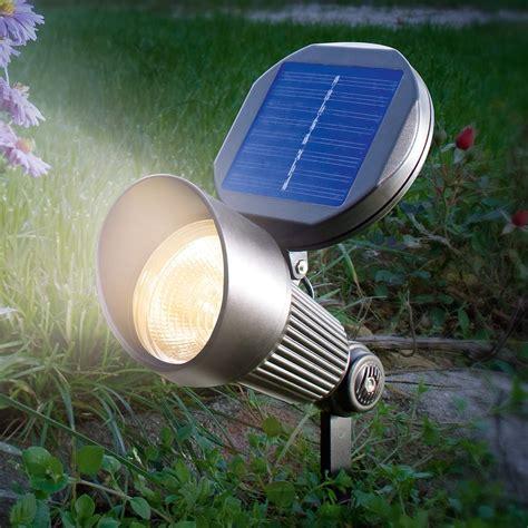 lade giardino energia solare solcellespot spotlight med varmhvitt led lys