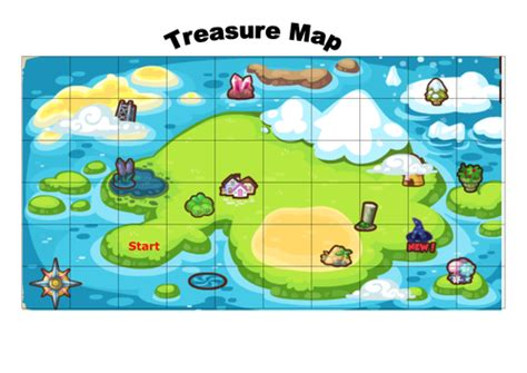quarter and half turn treasure map by lauranorwich