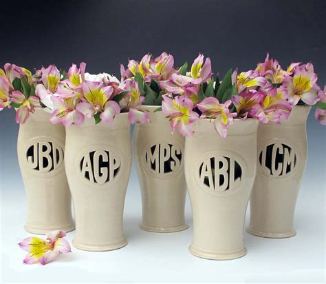 Personalized Vases For Wedding by Maidofclay Personalized Vases Studio Chi