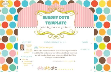 blog layout kawaii dots blog template the cutest blog on the block