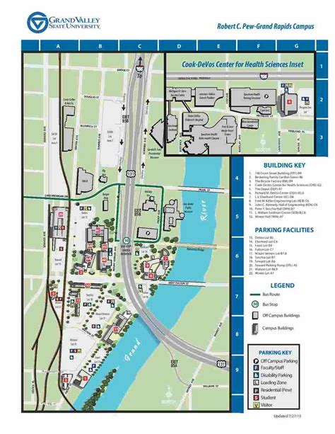 gvsu map directions and parking school of engineering grand valley state