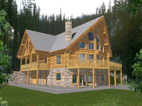 cool cabin plans durand creek a frame log home plan 088d 0045 house plans and more