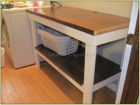 laundry table laundry room folding table with storage at home design ideas