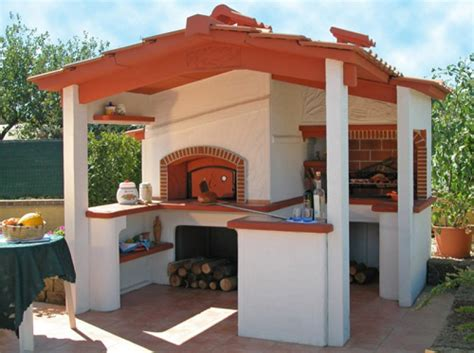 forni a legna e barbecue da giardino barbecue con forno siena