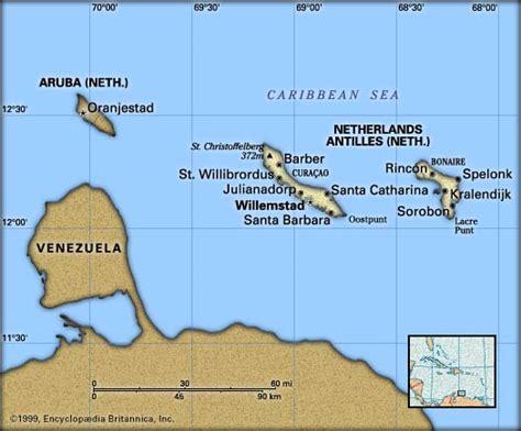 netherlands antilles map netherlands antilles