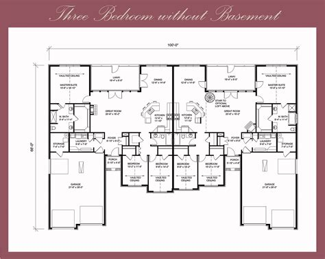 3 bedroom floor plan floor plans pines golf