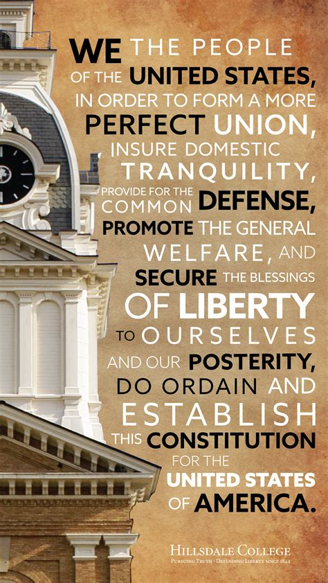 mobile phone constitution day background with hillsdale