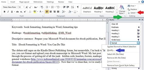 Ebook Format Style | ebook formatting in word you can do this indies unlimited