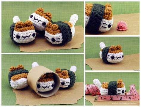 amigurumi sushi pattern musubi cat amigurumi plush by pocket sushi on deviantart