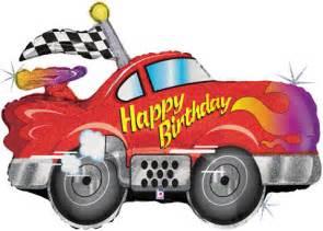 race car racing balloons