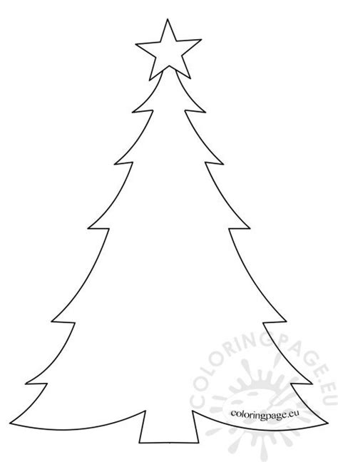 christmas tree coloring page template holiday coloring page