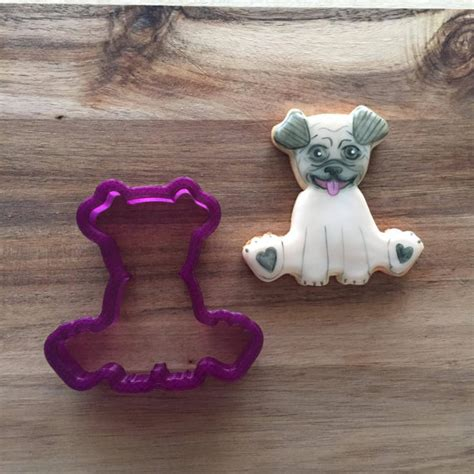 pug cookie cutter pug boy or cookie cutter or fondant cutter and clay cutter from