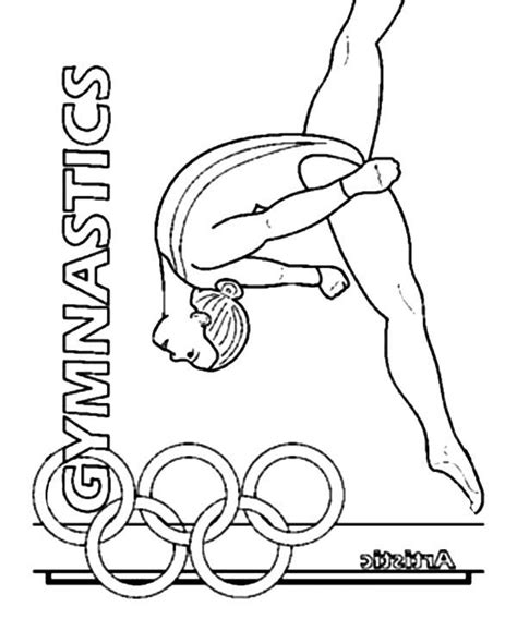 olympic gymnastics coloring page gymnastics girl olympic gymnastics girl coloring pages