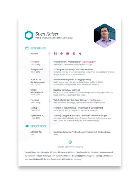creative resume designs     hired part