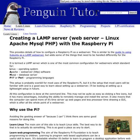 tutorial apache web server linux creating a lamp server web server linux apache mysql
