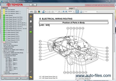 toyota parts diagram toyota avensis repair manuals wiring diagram