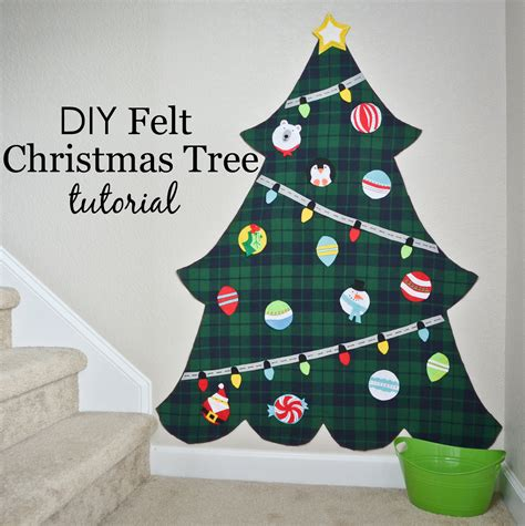 diy felt christmas tree project nursery