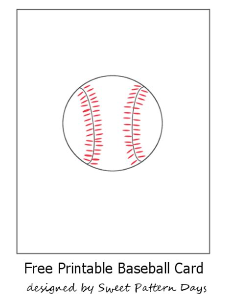 free baseball cards template free printable baseball card stationery printables