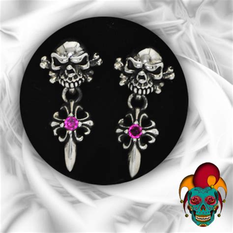 Tattoo Parlor Earrings | dangling skull silver earrings village tattoo nyc