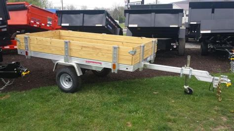 utility bed trailer 2016 worthington trailers 4x8 deckover tilt bed utility
