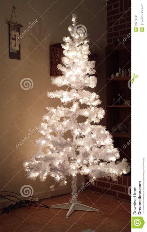 white christmas tree plain stock photo image 49276431