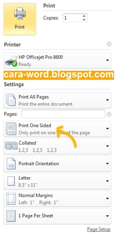 cara membuat halaman word bolak balik cara print bolak balik word cara word