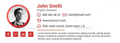 10 Email Signature Templates Html Files Included By Doto Graphicriver Free Email Signature Psd Template