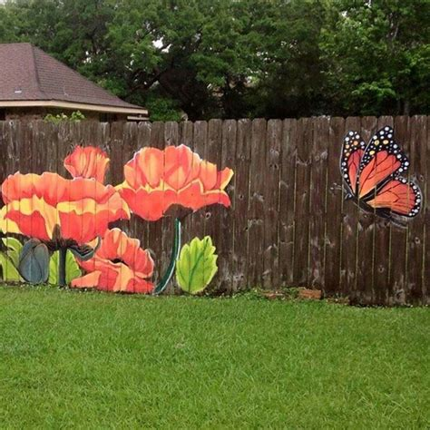 25 best ideas about fence painting on fence