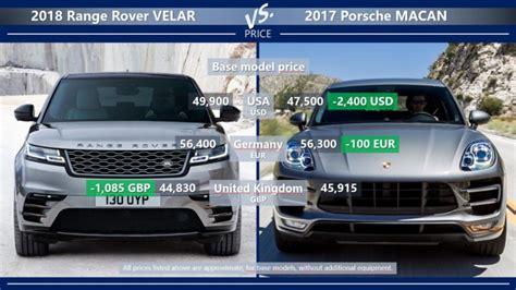range rover evolution price range rover velar vs porsche macan is velar enough