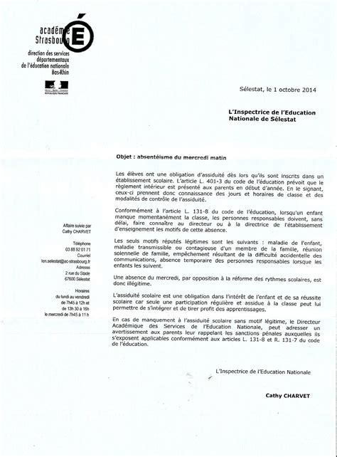 Exemple De Lettre Administrative Education Nationale Modele Lettre Inspecteur Education Nationale Document