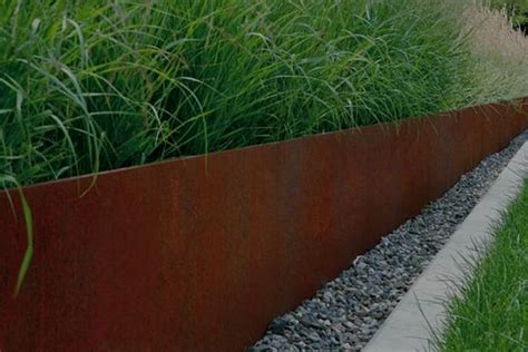 corten steel edging images