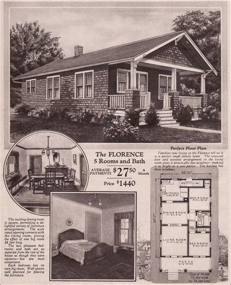 1930s bungalow floor plans motgomery ward kit house 1930 bungalow florence