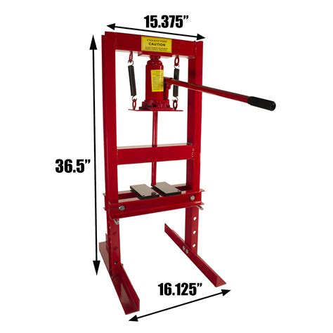 6 Ton Floor by Dragway Tools 6 Ton Hydraulic Shop Floor Press With Press