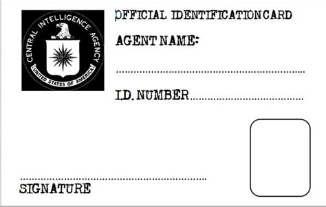 cia id card template maker 17 best images about vbs crafts on special