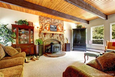 amerikanische wohnzimmer 44 cozy living rooms cabins with beautiful fireplaces