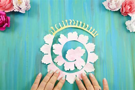 rolled paper flower pattern rolled paper peony flower tutorial quilling jennifer maker