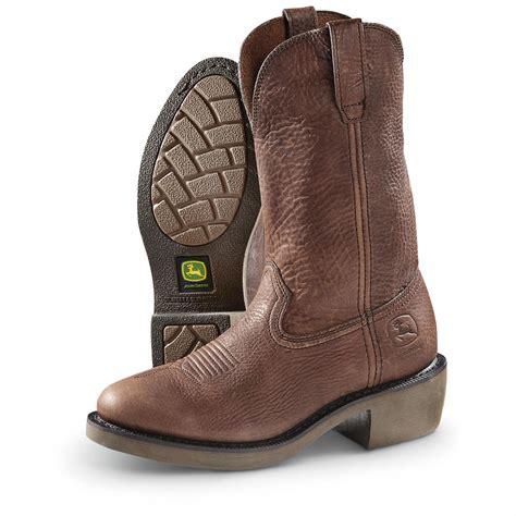 s deere boots deere s 12 quot wct boots 641334 cowboy western
