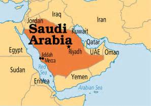 Arabian Peninsula On World Map by Saudi Arabia Operation World