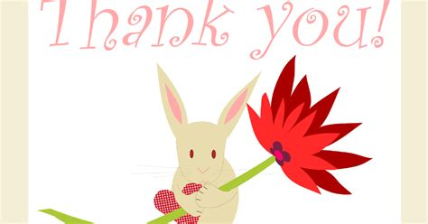 printable 4 h thank you cards free printable quot thank you quot card with cute bunny