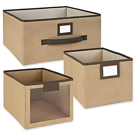 bed bath and beyond drawers closetmaid 174 fabric bin and drawer collection in mocha