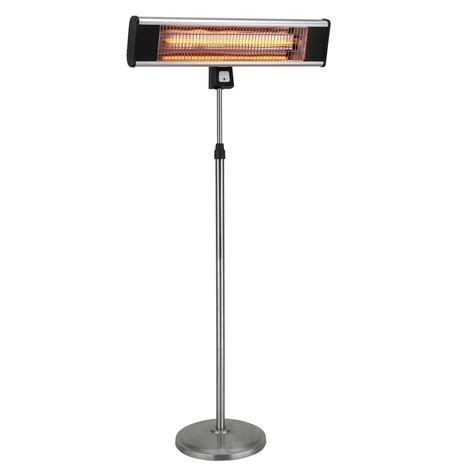 Outdoor Electric Patio Heater 1500w Infrared Pedestal Style Electric Patio Heater