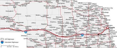 printable nebraska road map nebraska state road map with census information