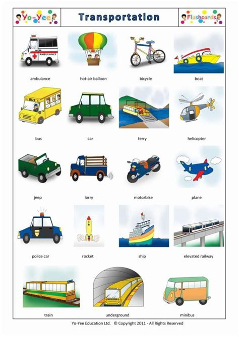 boat in spanish means transportation flash cards in spanish for children