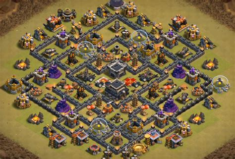 clash of clan th 9 war base top 8 best coc th9 war base anti valkyrie 2018 new