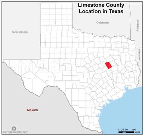 limestone county texas map limestone county location map texas emapsworld