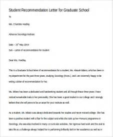 Recommendation Letter For Graduate Student Pdf Sle Recommendation Letter For Graduate School 8 Exles In Word Pdf