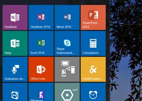 imagenes de iconos de windows 10 c 243 mo mejorar los iconos de office en el men 250 inicio de