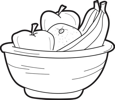 free coloring pages of fruit bowl